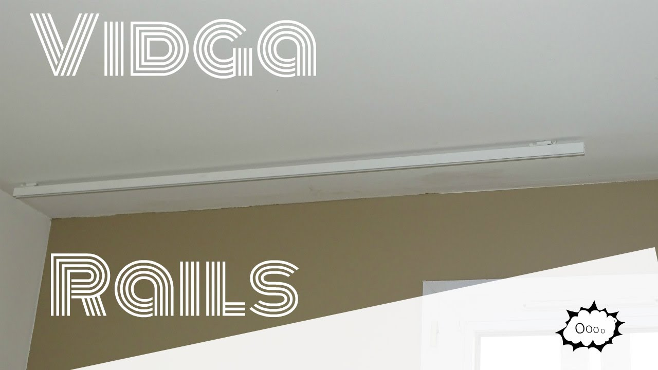 how to mount your vidga rail with rail rideau ikea. Black Bedroom Furniture Sets. Home Design Ideas