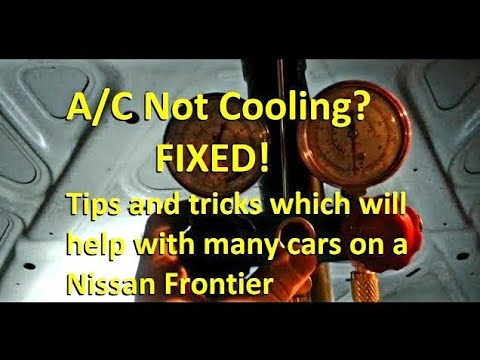 A/C Not Cooling? FIXED! Tips and Tricks for any car, using ... Nissan Frontier Ac Wiring Diagram on