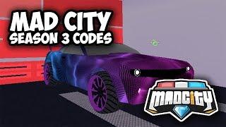 ALL MAD CITY SEASON 3 CODES (Roblox)