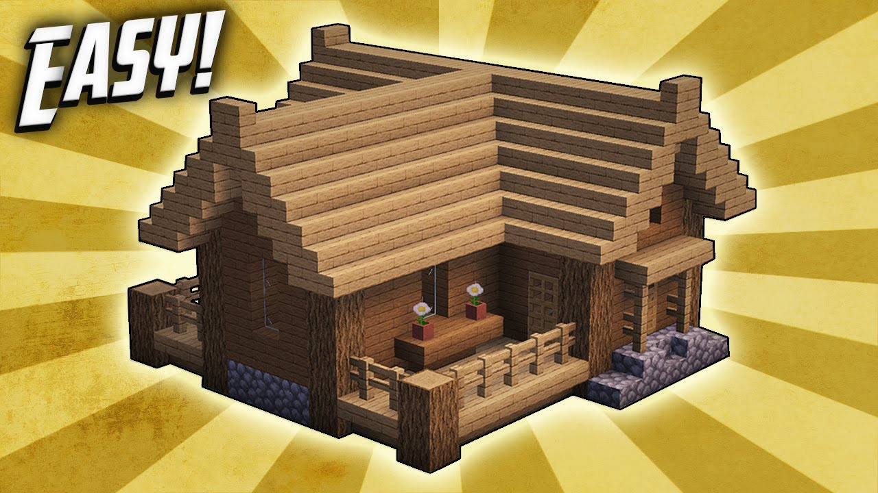Minecraft: How To Build A Small Survival Starter House Tutorial (#3)