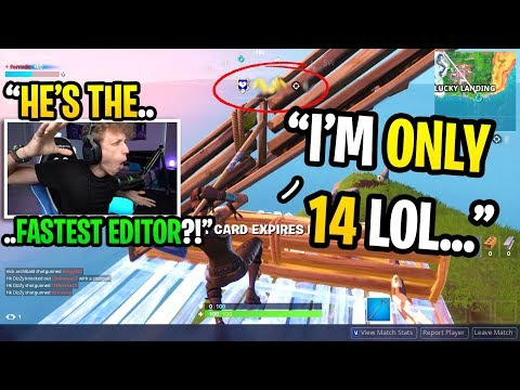 I spectated the FASTEST EDITOR in Fortnite and was AMAZED by his skills... (HE'S ONLY 14!)