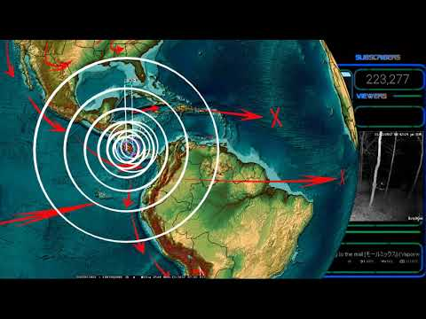 11/12/2017 -- Large M7.0 (M6.7) Earthquake strikes Central America -- MAJOR UNREST UNDERWAY