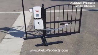 aleko aa700 articulated swing gate opener for dual swing gates up to 12 feet long and 700 pounds