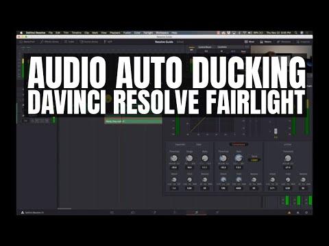 Audio Auto Ducking with Davinci Resolve 15 Fairlight