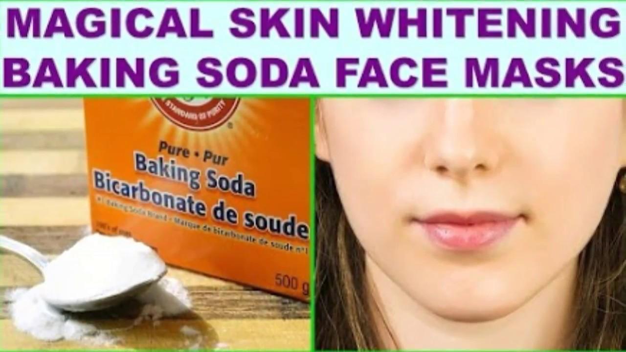 Instant Face Whitening Using Baking Soda And Lemon Youtube