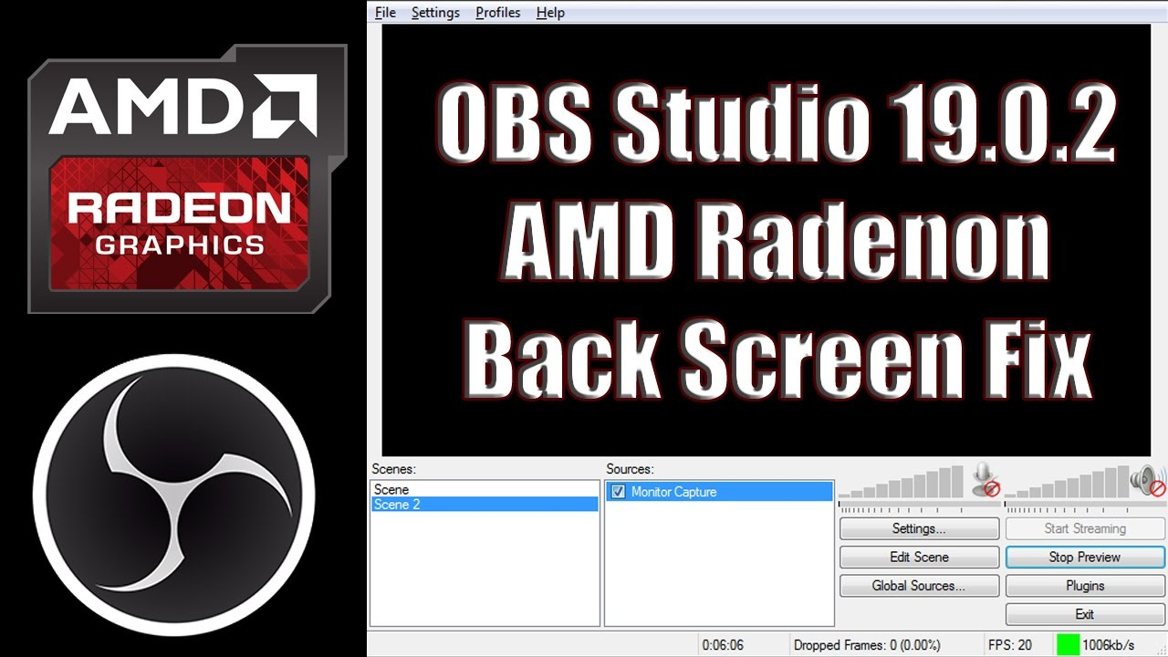 OBS Studio 19 0 2 AMD Black Screen Quick Fix in windows 10