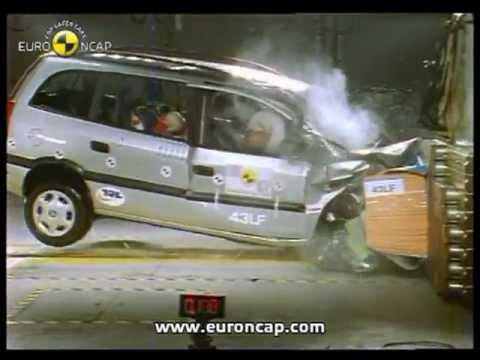 euro ncap opel vauxhall zafira 2001 crash test youtube. Black Bedroom Furniture Sets. Home Design Ideas