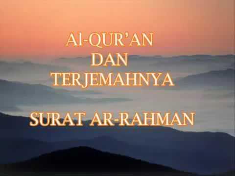 Surah Ar Rahman Terjemahan Indonesia