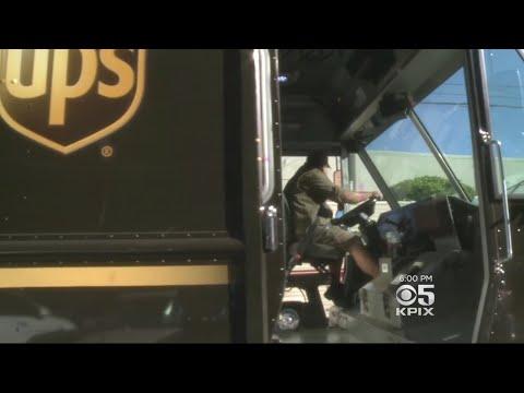 UPS Workers Delivering Overtime To Meet Online Purchasing Demands