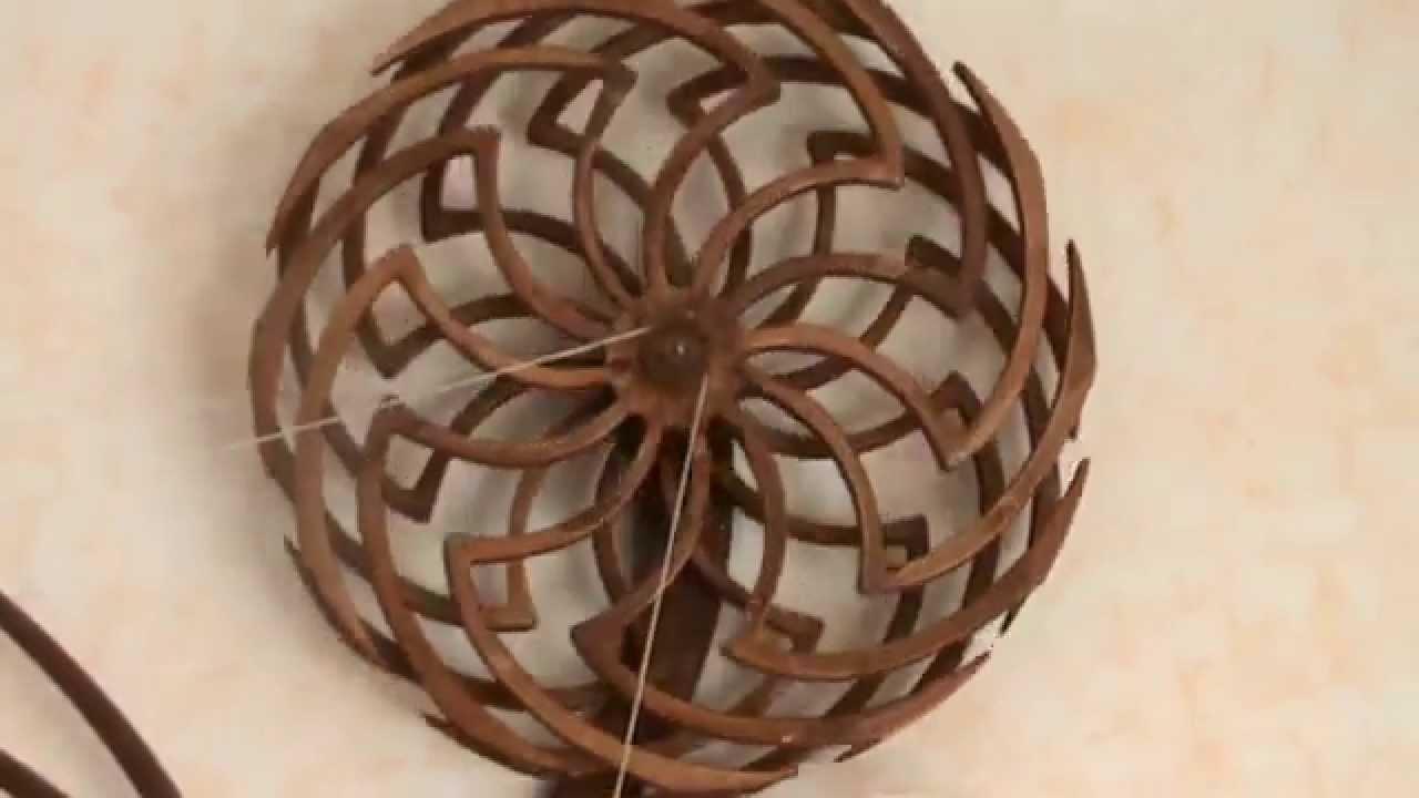 scultura cinetica in legno youtube