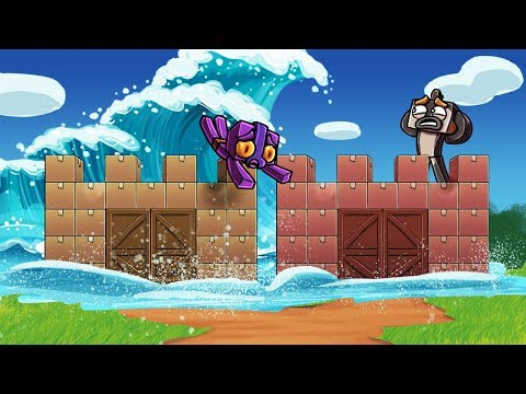 Minecraft - TSUNAMI BOX FORT CHALLENGE - Ultimate Base! (Tsunami vs Box Fort)