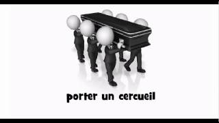 How to pronounce in French # porter un cercueil