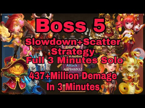Boss 5 |26,August,18|F2P Heroes| Slowdown+Scatter Strategy| Castle Clash..