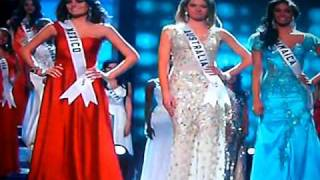 miss universe 2010 top 5 crowning mexico