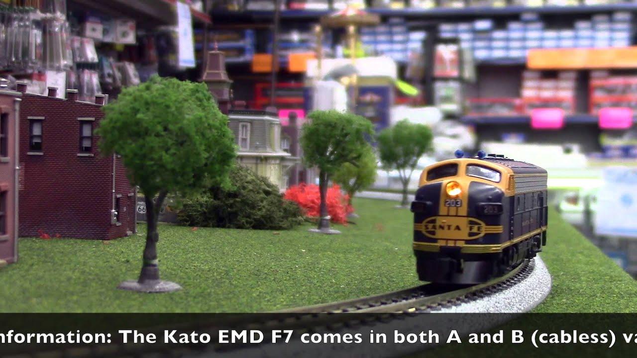 Kato N Scale Emd F7a Freight Single Headlight Santa Fe Cigar Band Head Lights For Model Trains Youtube
