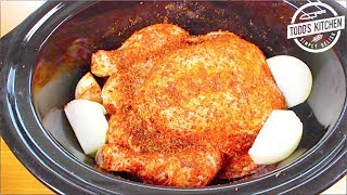 How to cook a whole Chicken in a Crock Pot recipe - Slow Cooker