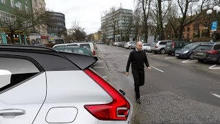 Volvo XC40: Rear Cross-Traffic Alert and Braking real life test :: [1001cars]