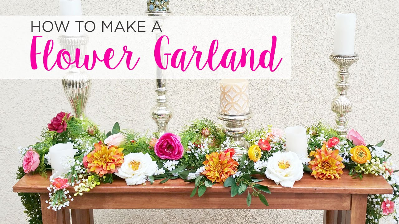 How To Diy Garland Youtube