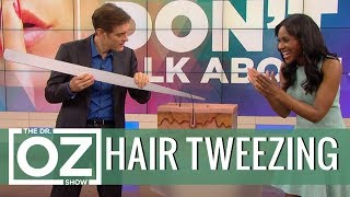 The Right Way to Tweeze Your Hair