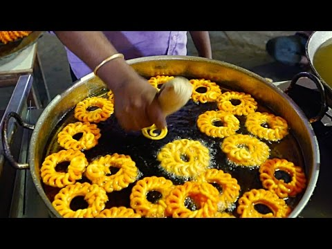 Indian Street Food - BEST FRIED IMARTI Indian Sweets Jhangri | Urad Dal Jalebi