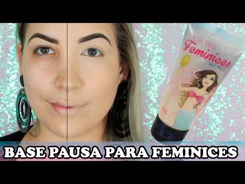 BASE PAUSA PARA FEMINICES! NOVIDADE!!!