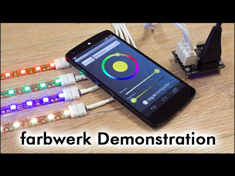 farbwerk rgb led controller demonstration youtube. Black Bedroom Furniture Sets. Home Design Ideas