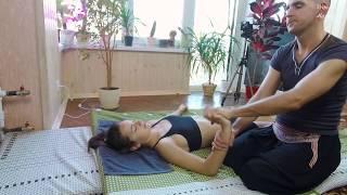 Thai massage Hand massage body stretch