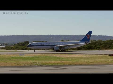 China Southern Airlines (B-6135) Airbus A330-223 Departing Perth Airport On RW03.