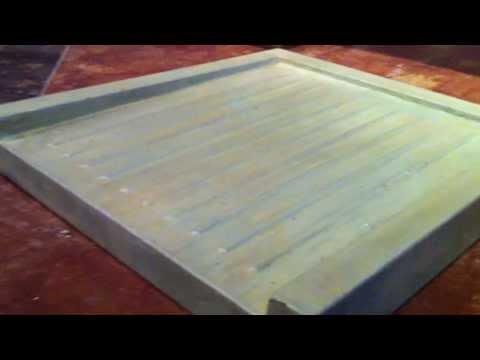Concrete Drainboard From The Journey Drain Board Mold
