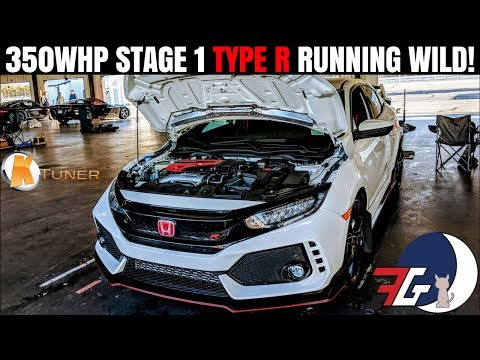 Tuned Civic Type R | KTUNER Stage 1 | Chasing Mustangs & Causing Crashes!