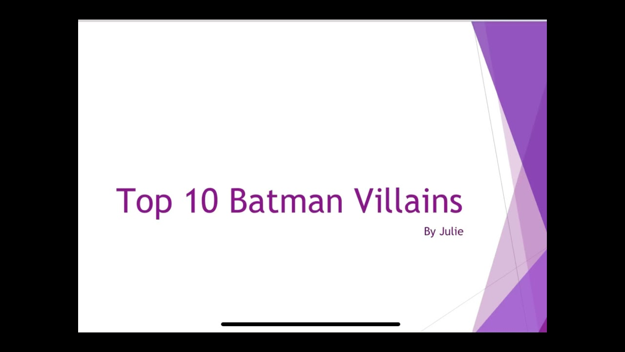 Download JCH 007 Presents My Top 10 Favorite Batman Villains