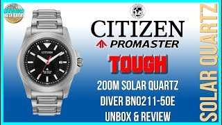 Tough As Nails! | Citizen Promaster Tough 200m Solar Quartz Diver BN0211-50E Unbox & Review
