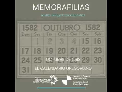 Octubre 1582 calendario Gregoriano