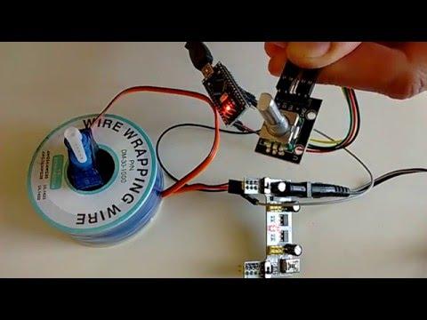 How do I control a DC motor with an encoder using Arduino?