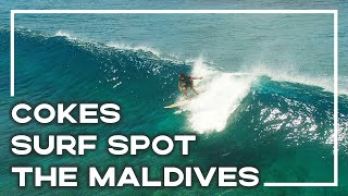 Surfing In The Maldives At Cokes Surf Spot, Thulusdhoo (Drone Edit)