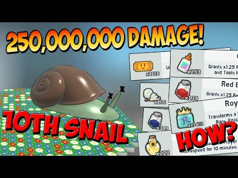 10th Stump Snail Defeated!! - Roblox Bee Swarm Simulator