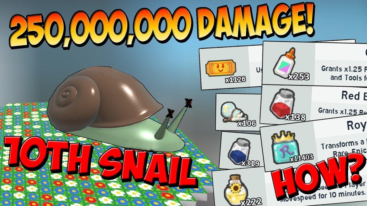 10th Stump Snail Defeated Roblox Bee Swarm Simulator Youtube