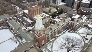 February. Snow. Yale.