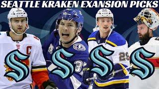 2021 NHL Expansion Draft Results - Seattle Kraken Selections Confirmed