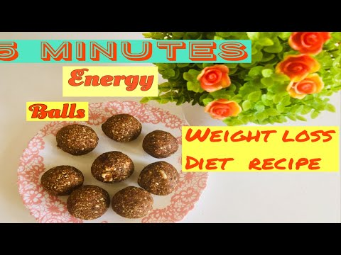 5 min weight loss recipe/ energy bites/ healthy snack recipe