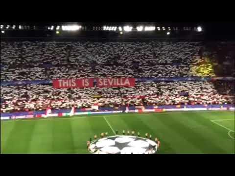Sevilla-Manchester United: Espectacular Himno del Centenario en el Sánchez Pizjuán