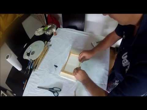 como hacer bastidores en lienzo para pintar youtube