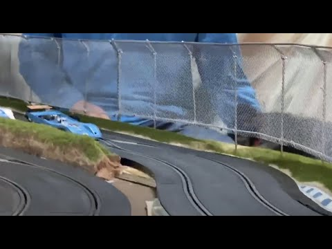 how to build realistic slot car crash fence