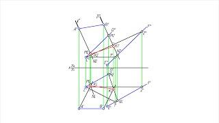 Построение на плоскости геометрического места оснований перпендикуляров к этой плоскости