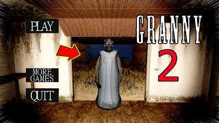 GRANNY LET US GO OUTSIDE!!! (Granny 2) | Granny Gameplay (Mods)