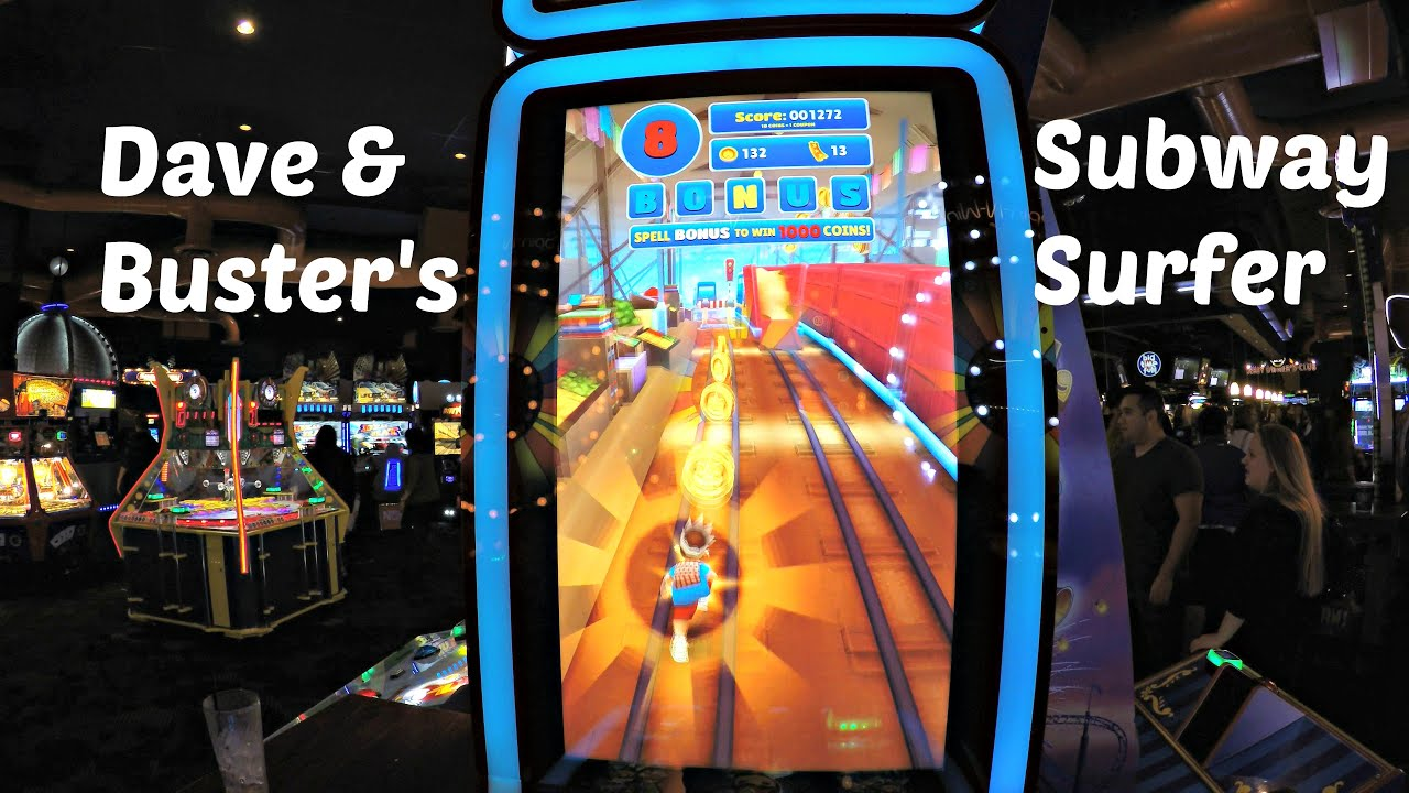 Subway Surfers Video Game Dave Buster S Ticket Arcade