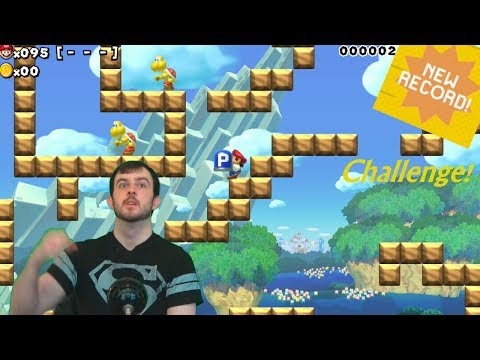 World Record Challenge on Super Expert! - Super Mario Maker