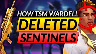 How TSM Wardell EAŠILY DESTROYED the Sentinels with SNIPER META - Valorant Pro Guide