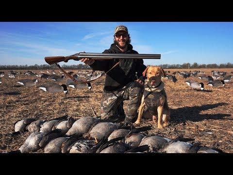 DOUBLE BARREL 10 Gauge Goose Hunt Challenge!! (BAD IDEA)