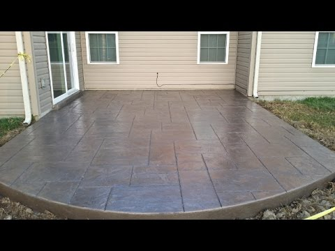 Stamped Concrete Patio In Time Lapse You